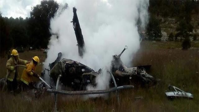 Se desploma un helicóptero militar de la Sedena en Durango