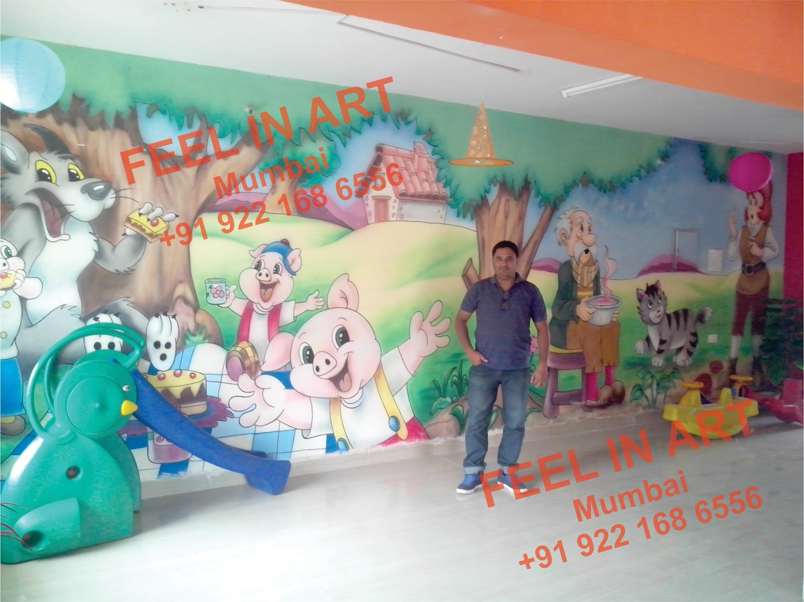 Play School Wall Painting Play School Classroom Wall Murals Best Ideas