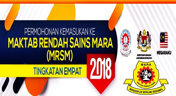Permohonan Kemasukan Mrsm Tingkatan 4 2018 Online Mybelajar