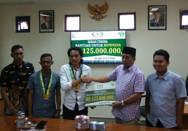 Patut Dicontoh, PMII Beri Bantuan Rp180 Juta untuk Rohingya dan Pengungsi Gunung Agung
