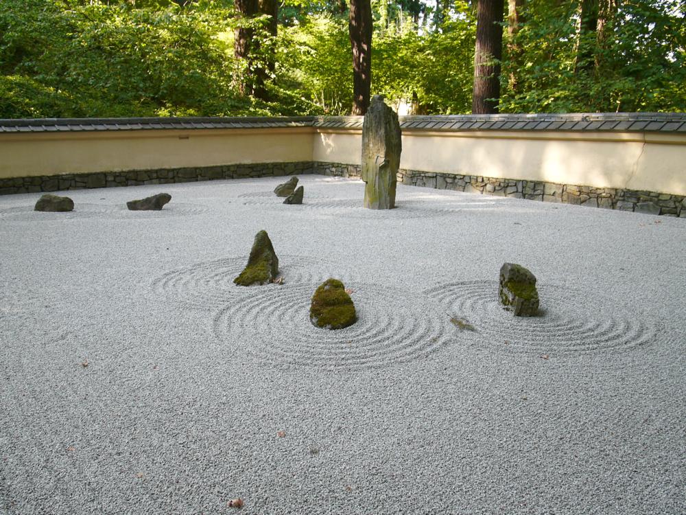 Portland Oregon Japanese Garden, Panasonic Lumix L1, meditation