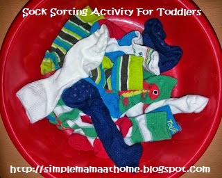 Sock Sorting Activity For Toddlers