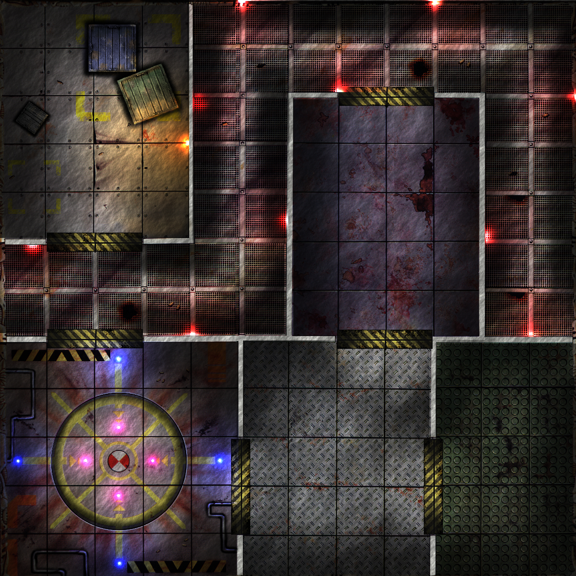 Free dungeon tiles to print Remake Space Crusade par Camus