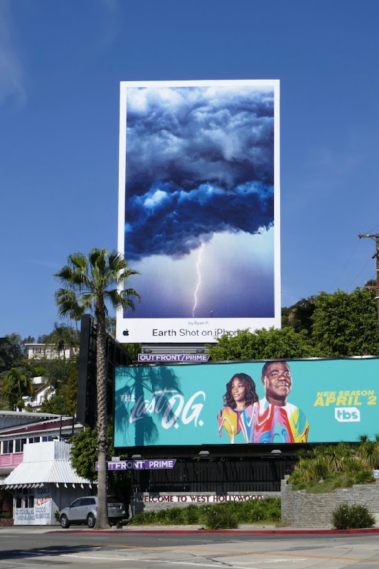 Earth Shot on iPhone storm cloud billboard