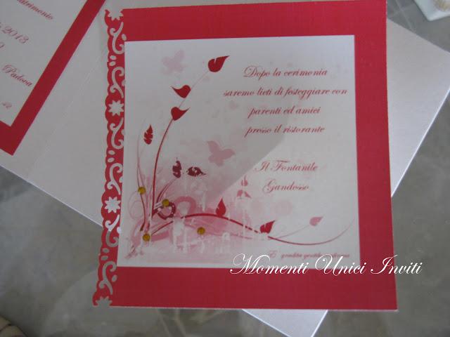 IMG_4558 Partecipazione pocket con dettagli in rosso...Colore Rosso Partecipazioni Pocket