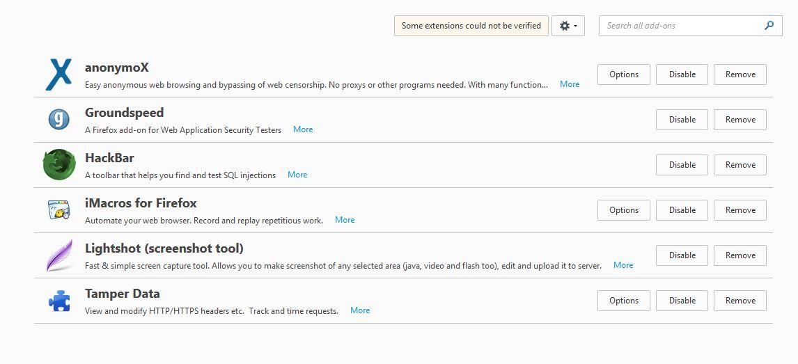 Customizing Mozilla Firefox for Hackers