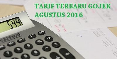 tarif gojek agustus 2016, tarif gojek terbaru agustus 2016, tarif baru gojek agustus 2016