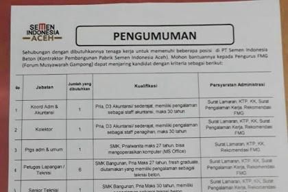 Lowongan Kerja Semen Indonesia