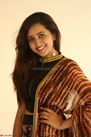 Lasya looks super cute in black choli Saree at Raja Meru Keka Press Meet ~  Exclusive 085.JPG