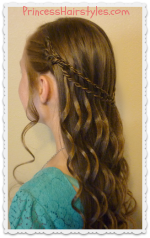 Scissor Twist Waterfall Braid With Curls Tutorial