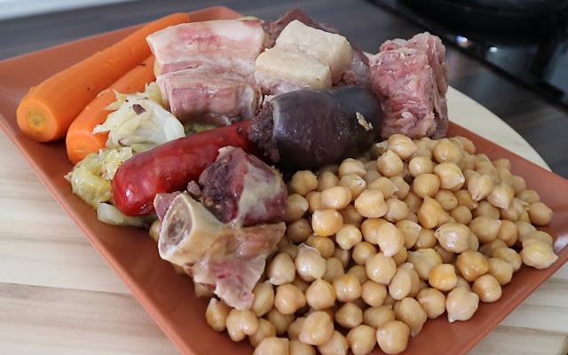 Cocido madrileño en olla express