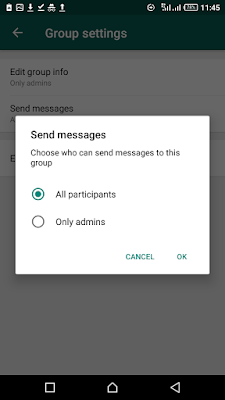 You Can Make Only Admins Post On Your Whatsapp Group