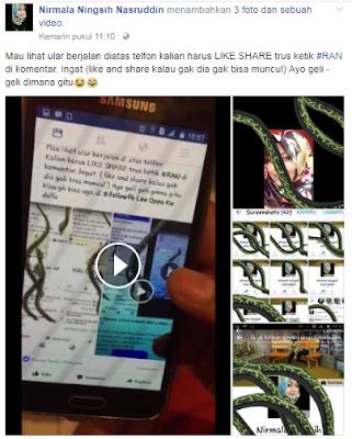 Ternyata Ini Rahasianya  Ketik #Run Keluar Ular Di Komentar Facebook