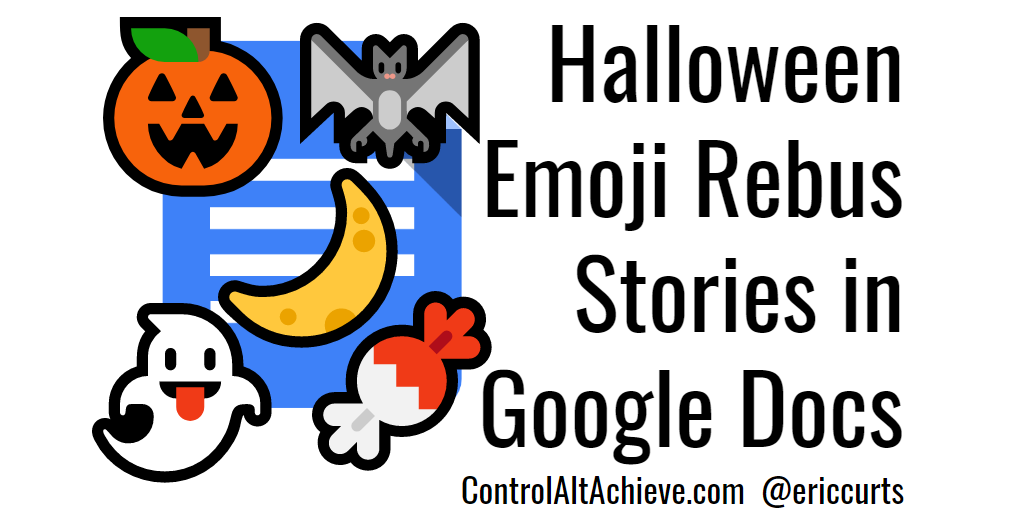 control alt achieve create halloween rebus stories with emojis and