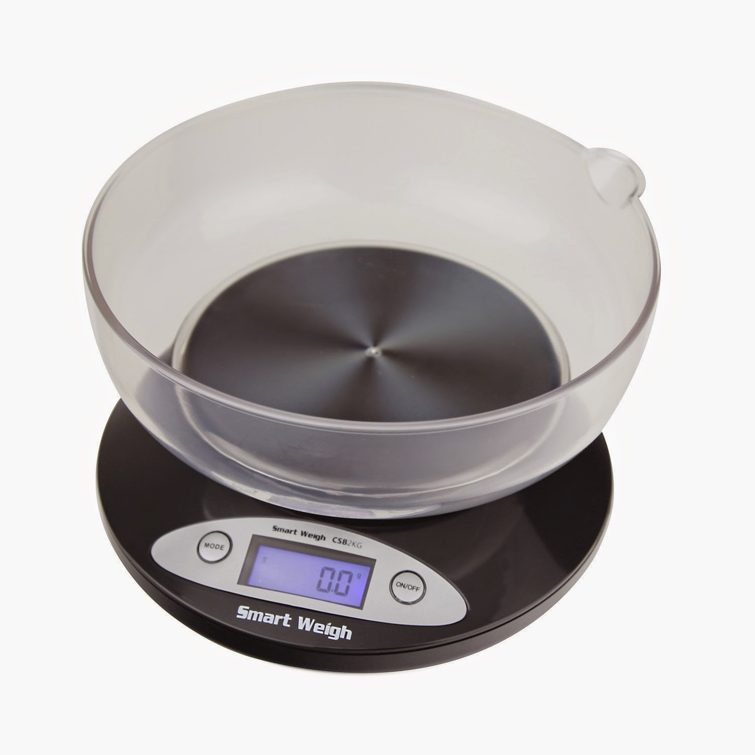 Precision Digital Kitchen Scale with Removable Bowl