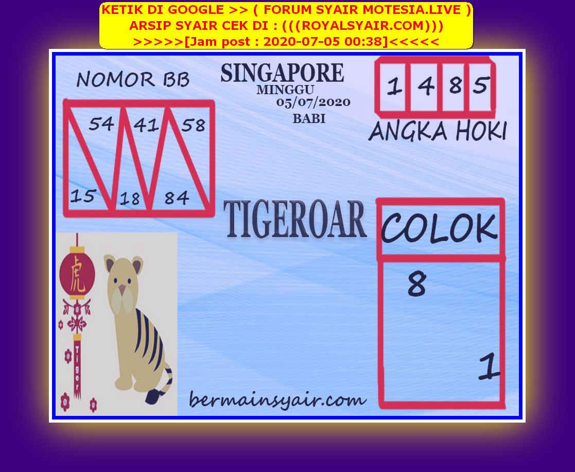 Kode syair Singapore Minggu 5 Juli 2020 240