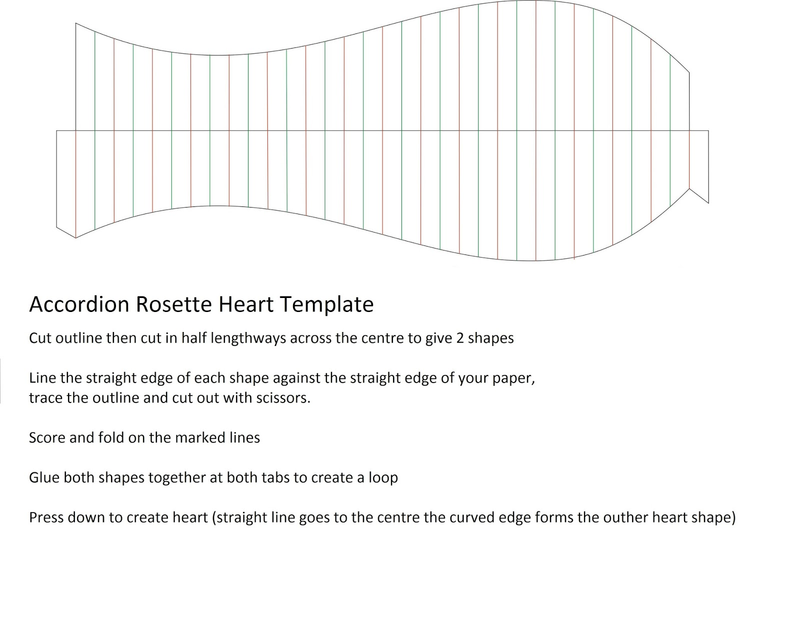 Heart Rosette Template Printable Gtgtgt Best Wallpaper Hd