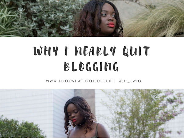 WHY I ALMOST QUIT BLOGGING