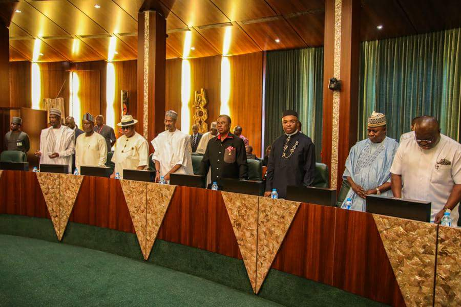 Image result for Osinbajo presides over NEC meeting in Abuja