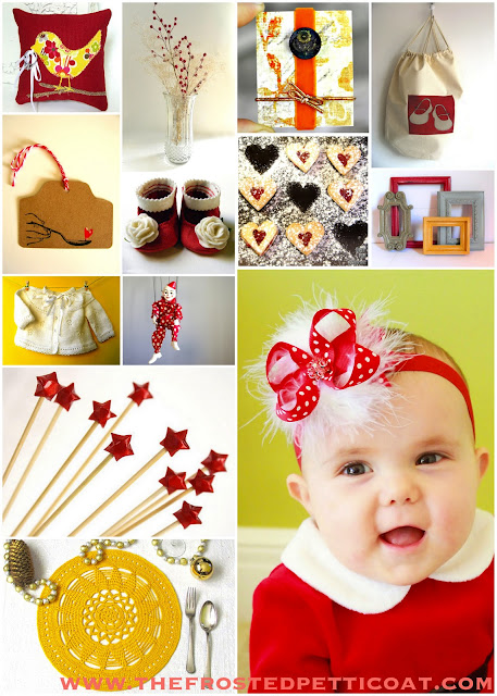 baby+first+birthday+party+christmas+holiday+gift+baby+shower+red+yellow+grey+white - The (not-so) Christmas Baby