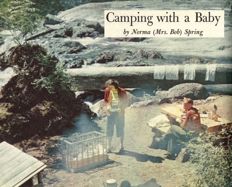 Camping with Baby circa 1955