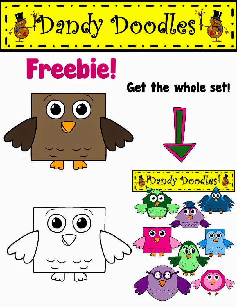 https://www.teacherspayteachers.com/Product/Brown-Owl-FREEBIE-Clip-Art-by-Dandy-Doodles-1668917