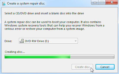create system repair disc windows - memilih disc