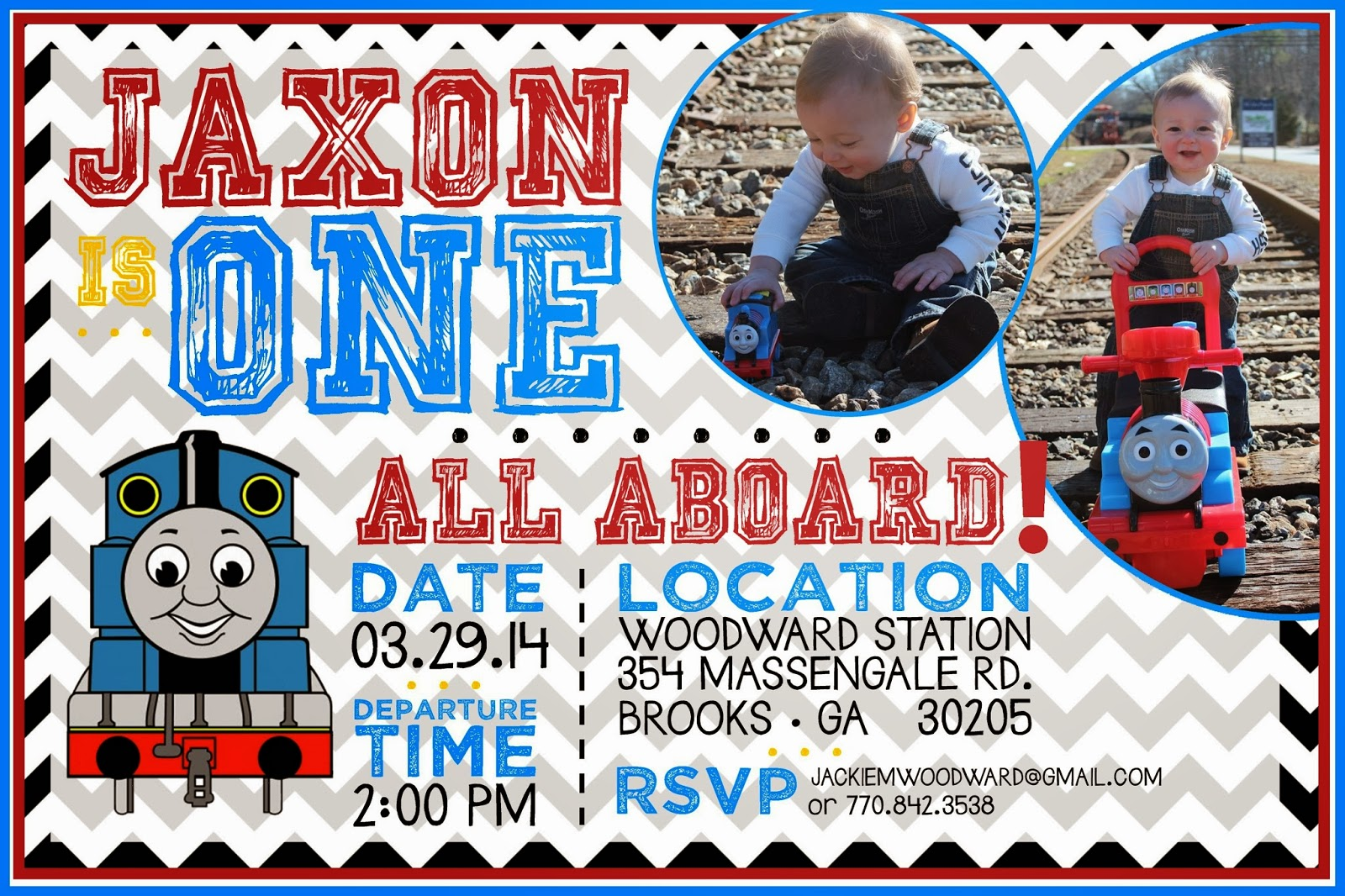 Thomas The Train Party Invitation