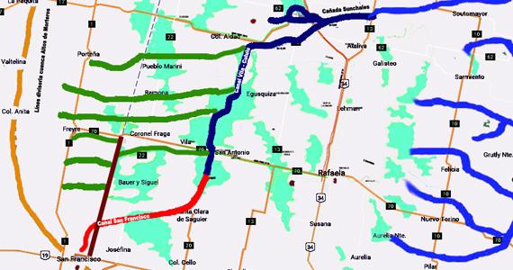 Resultado de imagen para Canal Vila Cululú y Cañada Sunchales.
