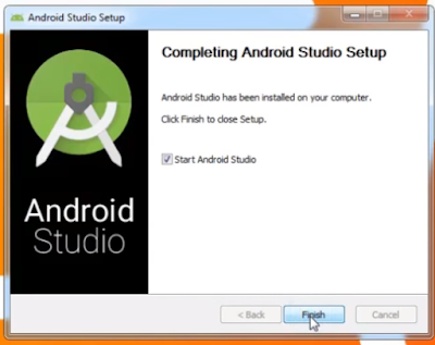 Completing Android set up click finish