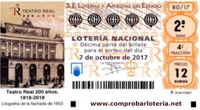 decimos de loteria nacional especial de octubre
