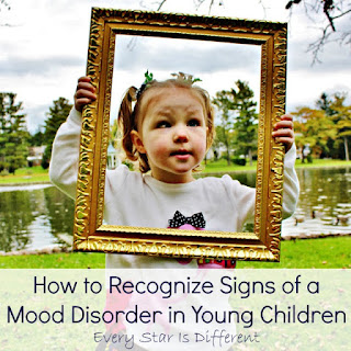 How to recognize signs of a mood disorder in young children.