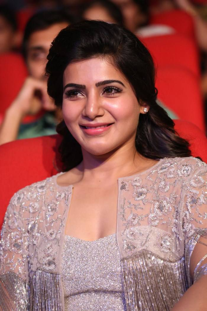Samantha Latest Smiling Stills In White Dress