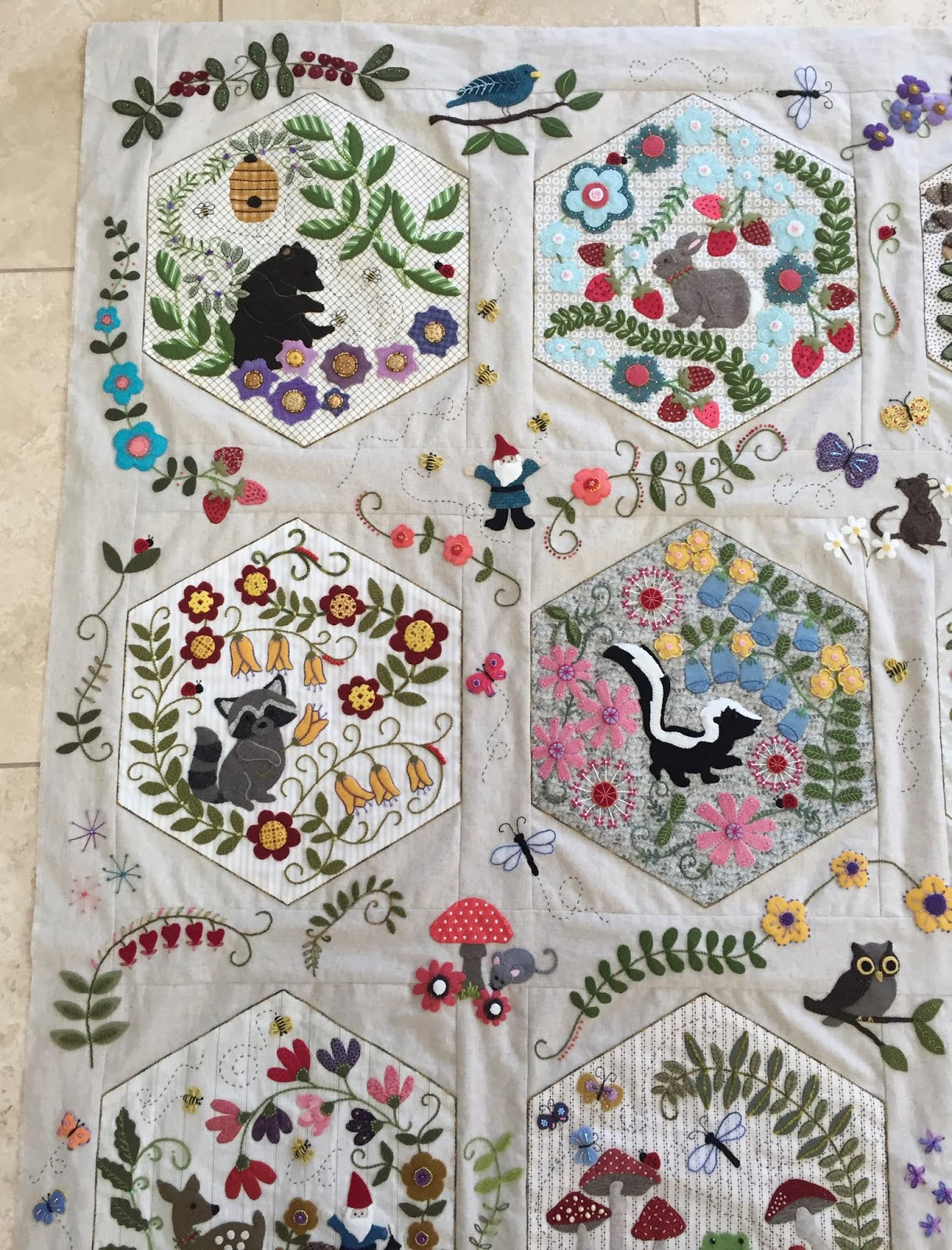 Sew Fun 2 Quilt Woodland Whimsy Quilt Top Complete