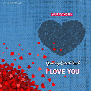 Your my world i love you love creative proposal image