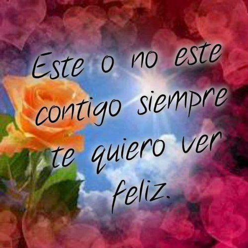 deseo que siempre estés feliz