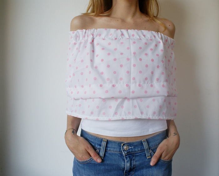 flounce offshoulder top diy raso