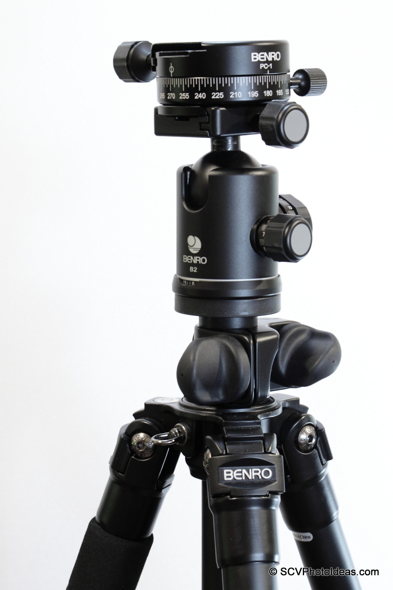 Benro A-298EX + Benro B-2 + Benro PC-1 as panorama head base