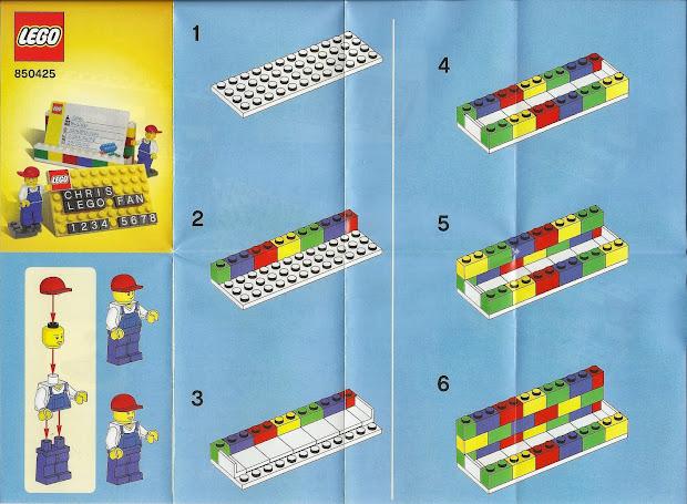 Lego 850425 Desk Business Card Holder