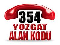 0354 Yozgat telefon alan kodu