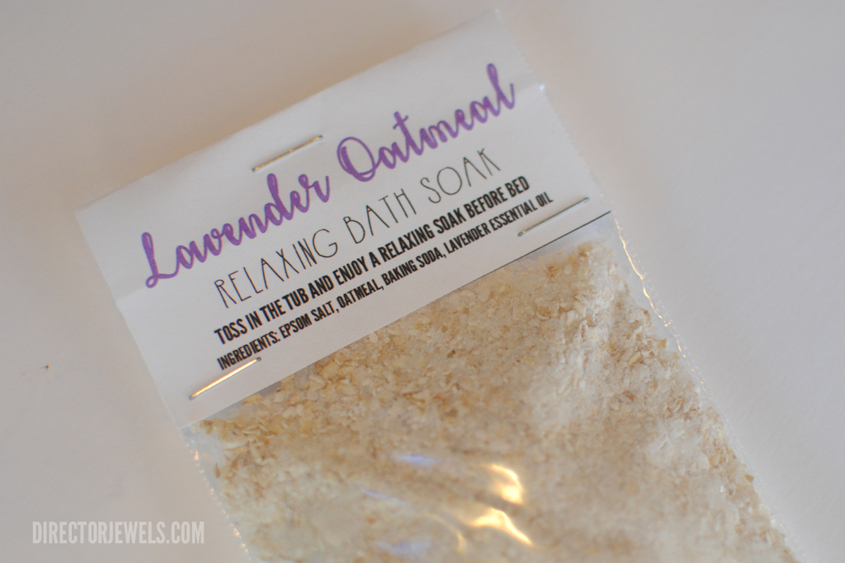 Lavender Essential Oil Oatmeal Relaxing Bath Soak