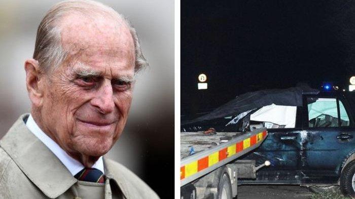 Mobil Terbalik, Pangeran Philip Alami Kecelakaan