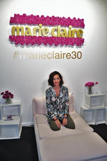 Foto en el stand de la revista Marie Claire
