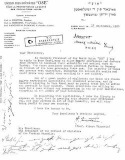 Einstein'den Atatürk'e Mektup