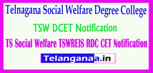 TSW DCET Notification Telangana Social Welfare TSWREIS RDC CET 2018 Notification