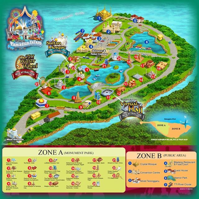 Peta Taman Tamadun Islam