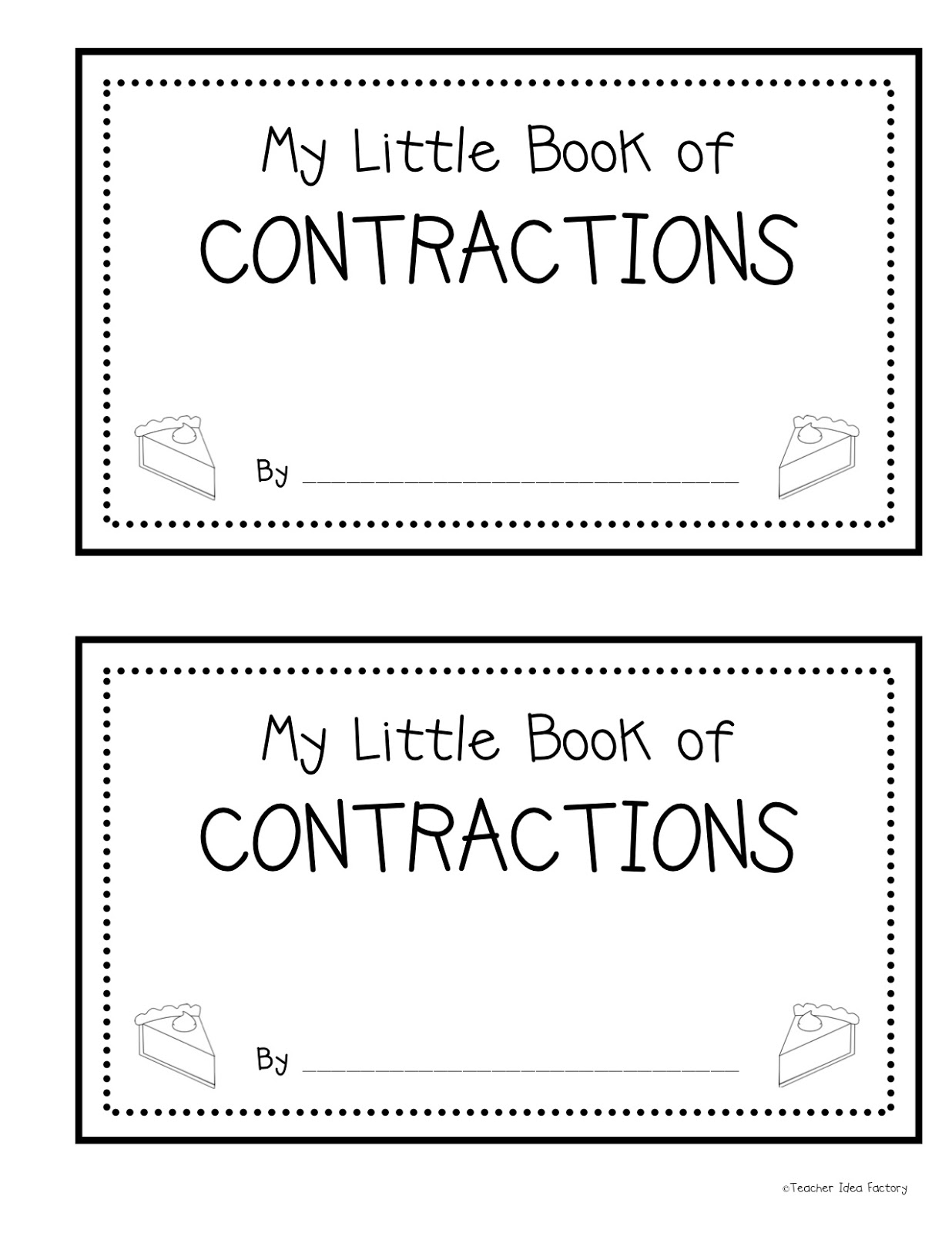 Contractions As Easy As Pumpkin Pie