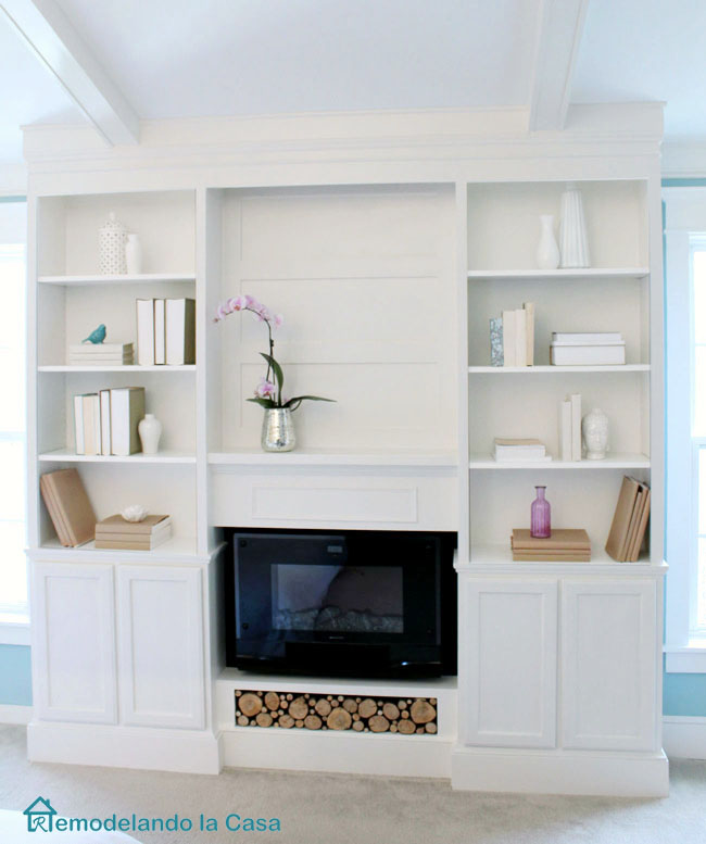 DIY built ins with fireplace