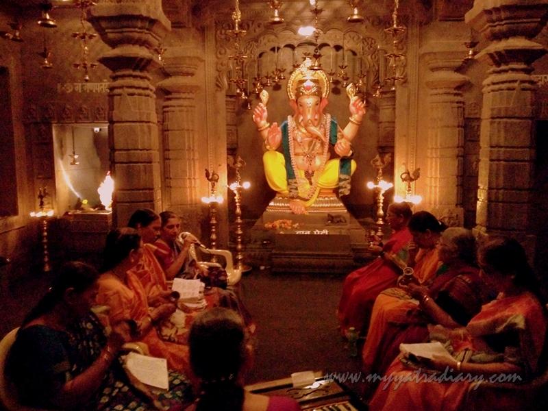 Dimly lit Uttarakhand Kedarnath temple theme, Ganesh Pandal Hopping Mumbai