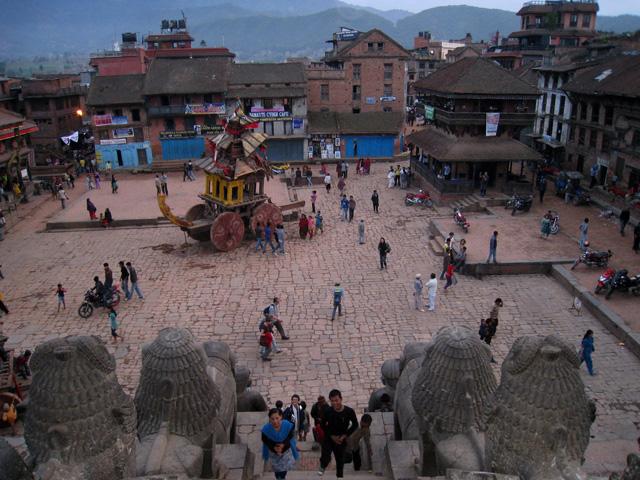 Uno de los carros del festival Bisket Jatra, en Bhaktapur